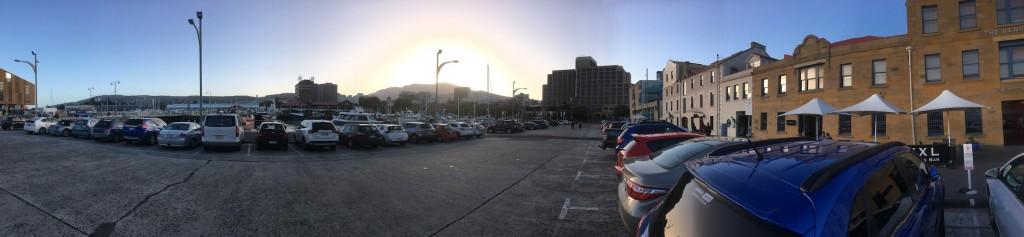 Sunset over Mt Wellington in Hobart
