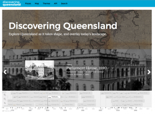 Screen shot of the Discovering Queensland website
