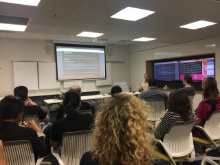 Morgan Strong presenting to the Brisbane Website Accessibility Meetup