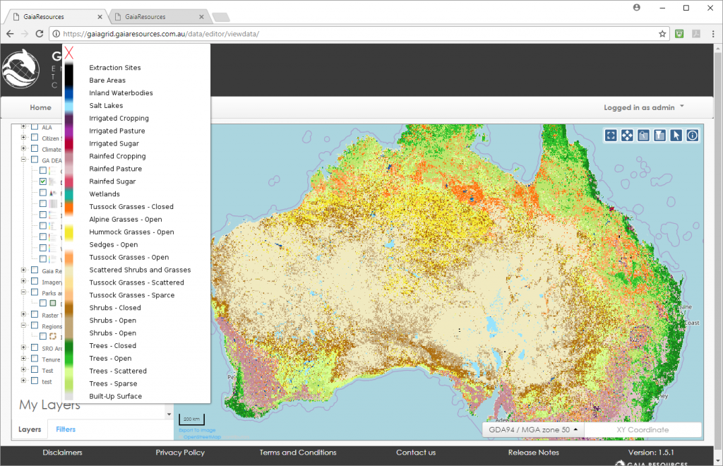 Map Grid Of Australia Zone 50.A Better Deal For Nrm Data Gaia Resources
