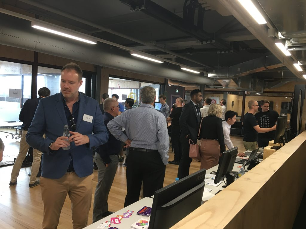 People listening to suppliers and vendors at the Open Data event in Brisbane in March 2018