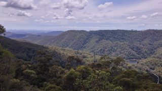 Sweeping view of Springwood National Park with the Gold Coast in the far background