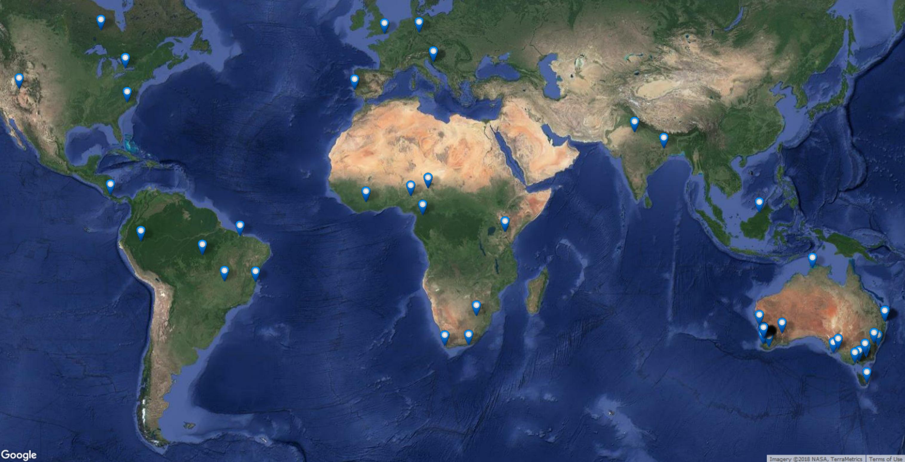 QGIS Participants Map