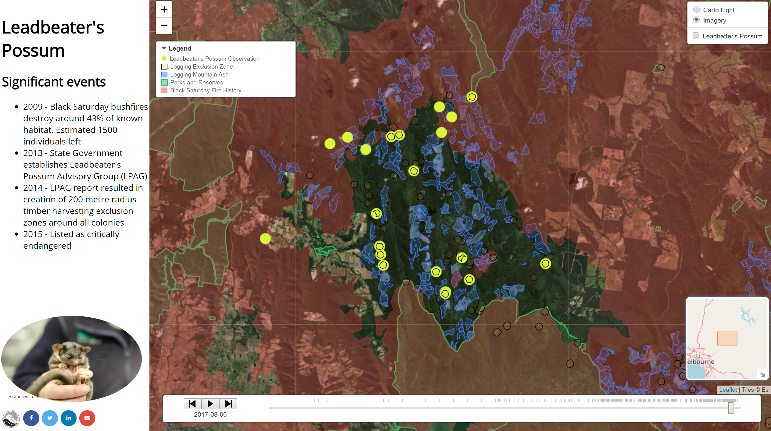 Threatened species – mapping stories » Gaia Resources