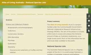 ALA National Species Lists