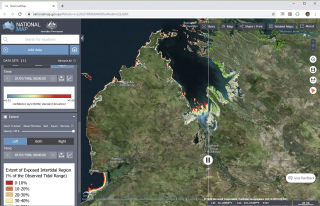 Open data products from Digital Earth Australia (Geoscience Australia) like mangrove cover and intertidal extents can easily be brought into GRID and other GIS packages for monitoring projects (Source: National Map).