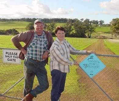 Land for Wildlife property owners, Robyn and Andy McElroy, at Boyup Brook - photo ©Parks and Wildlife