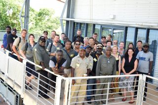 Members gather for the inaugral Indigenous Carbon Industry Network Meeting at the North Australian Savanna Fire Forum on February 14 2019