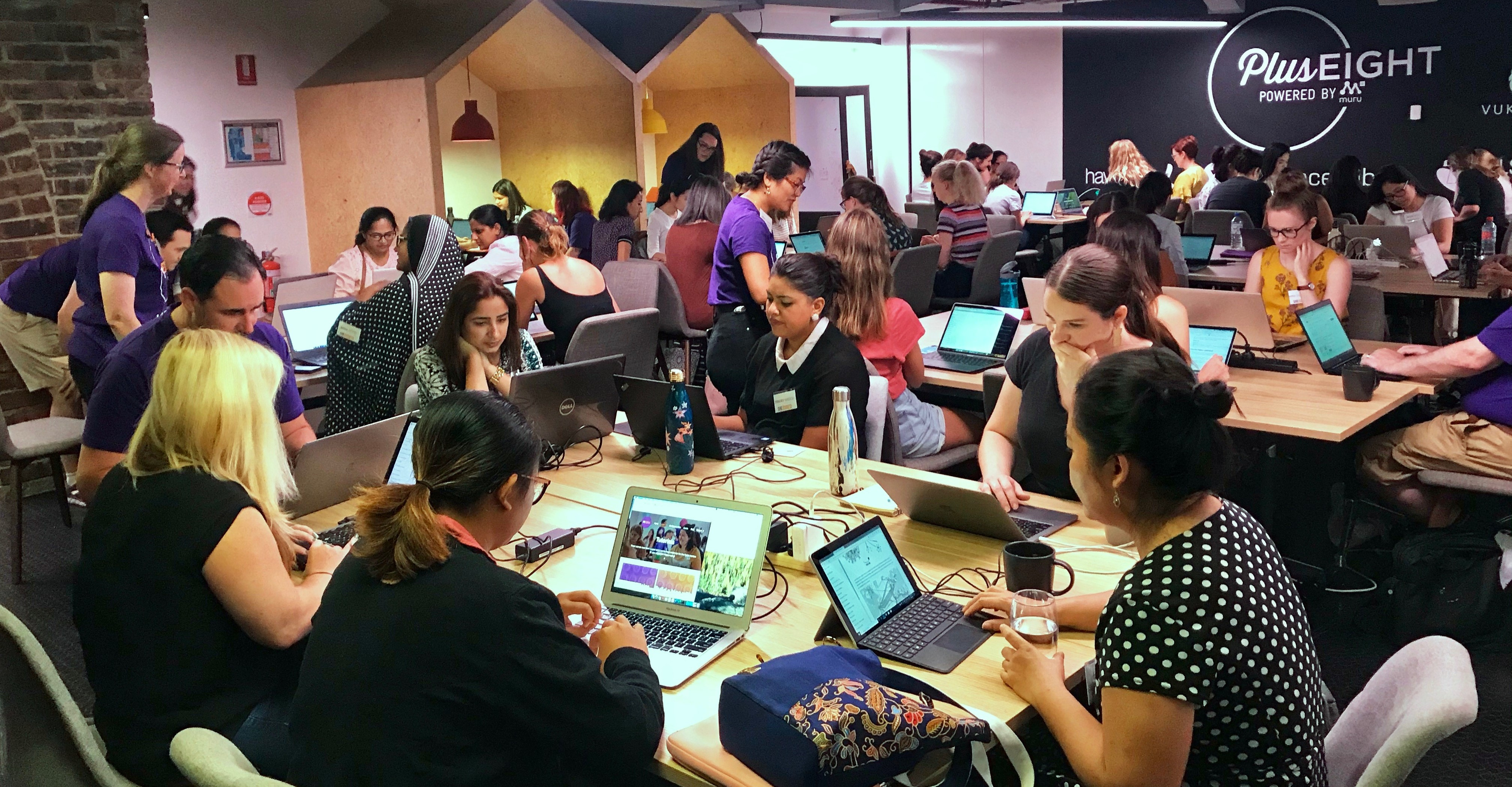 She Codes coders in Saturdays workshop (photo courtesy of She Codes)