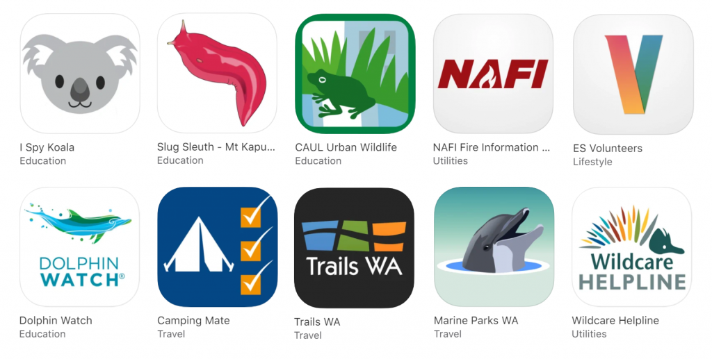 A range of mobile apps currently available in the App Stores